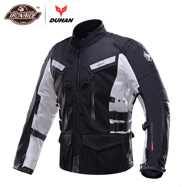 5096e325ab6 Chaqueta de Moto DUHAN para hombre, chaqueta de Moto de carreras,  impermeable, a