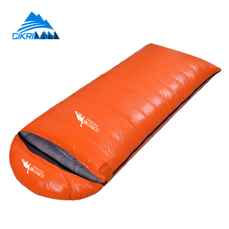 New Ultralight Camping Thermal Envelope Goose Down Sleeping Bag Winter Outdoor Sport Hiking Trekking Water Resistant Saco Dormir aegismax outdoor naturehike saco de dormir camping sleeping bag 5 celsius goose down ultralight adult envelope sleeping bags