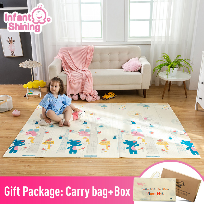 Infant Shining Baby Play Mat 180 200cm Portable Folding Baby Climbing Pad Foam Pad XPE Environmental