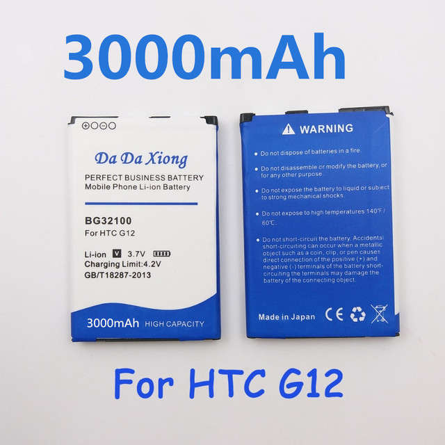 3000 mAh Li-ion Bateria Do Telefone para HTC BG32100 G11 G12 G15 A7272 A9393 T8698 PG32130 Incredible S S710D S710E