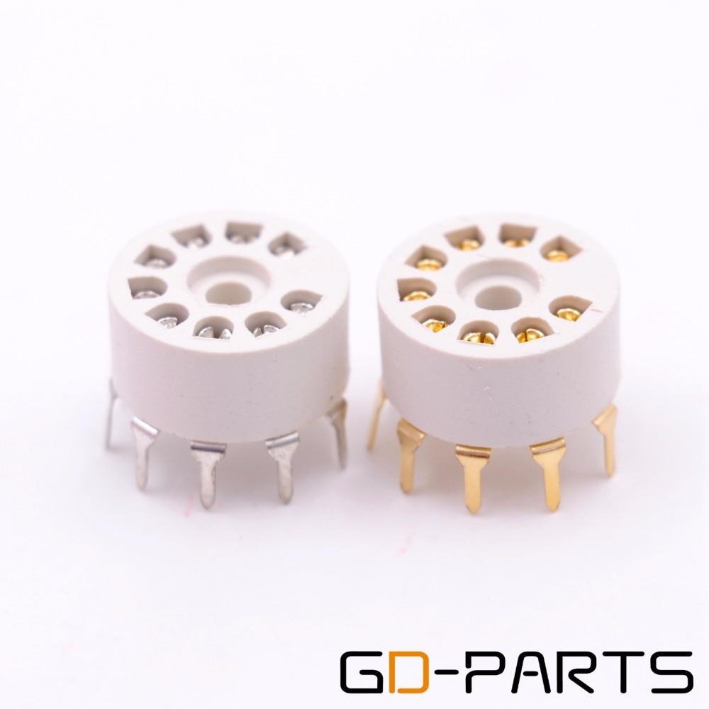 10PCS PCB Mount Plastic 9pin Vacuum Tube Socket For 12AX7 12AT7 12AU7 EL84 6N1 ECC82 ECC83 ECC81 Vintage Hifi Audio TUBE AMP DIY