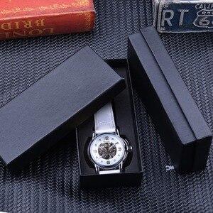 Image 5 - Gewinner 2017 Damen Diamant Display Frauen Top Marke Luxus Weiß Einfache Skeleton Transparent Fall Automatische Mechanische Uhren