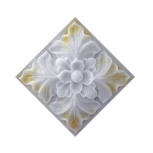 10Pcs Flower Pattern Tile Stic