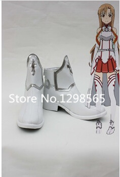 Free shipping Custom cheap Asuna Shoes from Sword Art Online Cosplay