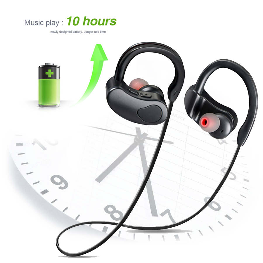 Ear Hook Headphone K100 Wireless Bluetooth Earphone Bass Stereo Earbuds Sport Handsfree with Microphone Mobile Phone Headset