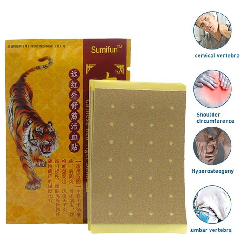 8Pcs Chinese Red Tiger Plaster Pain relief patches Tiger Balm Treatment Joint Muscle Back Pain Body Massage Z2