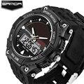 Relojes Hombre 2016 SANDA Analog Digital Watch Men Waterproof LED Solar Men Watches Men Sport Army Wrist Watch Christmas Gift