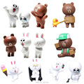 Line Friends Brown Bear Cony Rabbit Duck Sally Moon PVC Action Figures Line Town Dolls Anime Figurines Kids Toys for Boys Girls