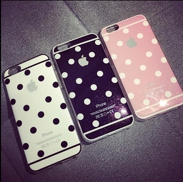 case For iPhone 5s SE I6 6s Polka Dots Flash point Printed Cute Case Flashing Soft Silicone Hard Back Protective Cover Coque