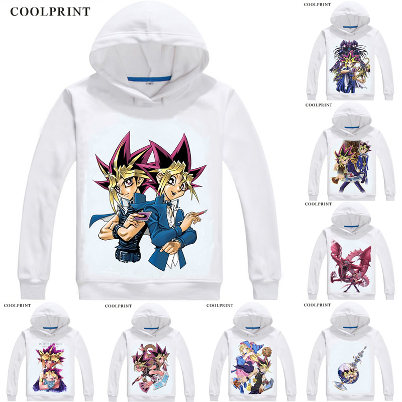 Yu-Gi-Oh Man Hoodies Fashion Long Sleeve Pocket Hooded Sweatshirts Black