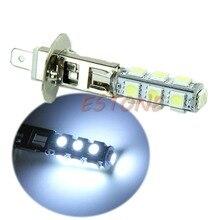 цена на YAM 12V Super Bright H1 13-LED SMD White Car Vehicle Headlight Fog Light Lamp Bulb
