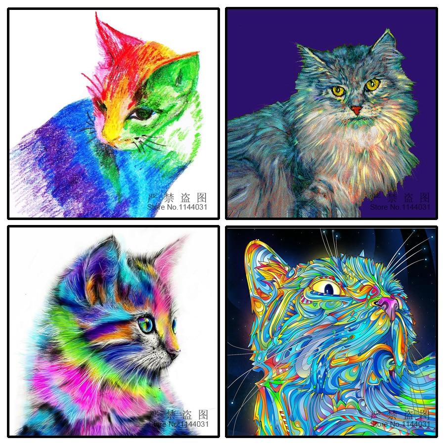 5D Diy Diamante Pintura Gato Bordado de Diamantes Decoración para el - Artes, artesanía y costura