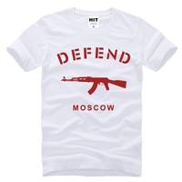MOSCO AK47 de Creative Hommes Nouveauté T-Shirt T Shirt Hommes 2016 À Manches Courtes O Cou Coton Casual Top Tee