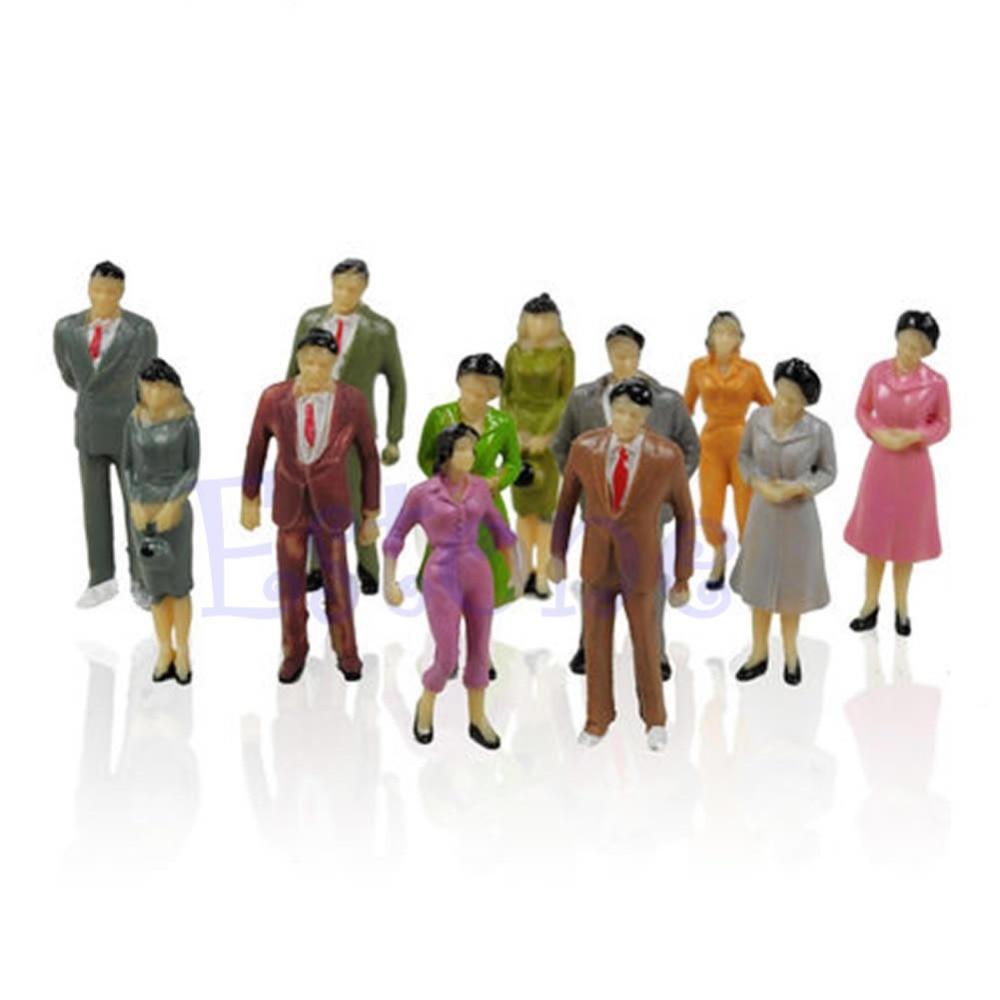 2018 100PCS 1:87 Building Layout Model People HO Scale Painted Figure Passenger Toys JUL24_17