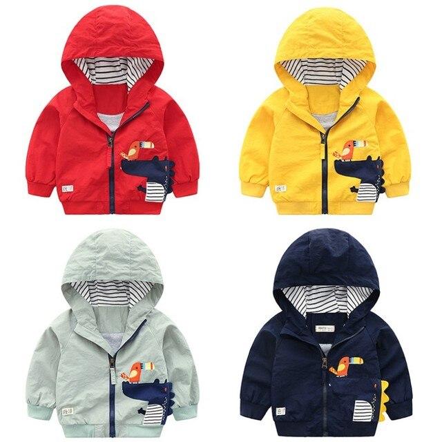 cf44a2997 2Y 8Y Autumn Kids Jacket Coat Cartoon Hooded Boys Girls Jacket ...