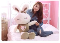 about 150 cm love rabbit plush toy throw pillow rabbit doll w3900