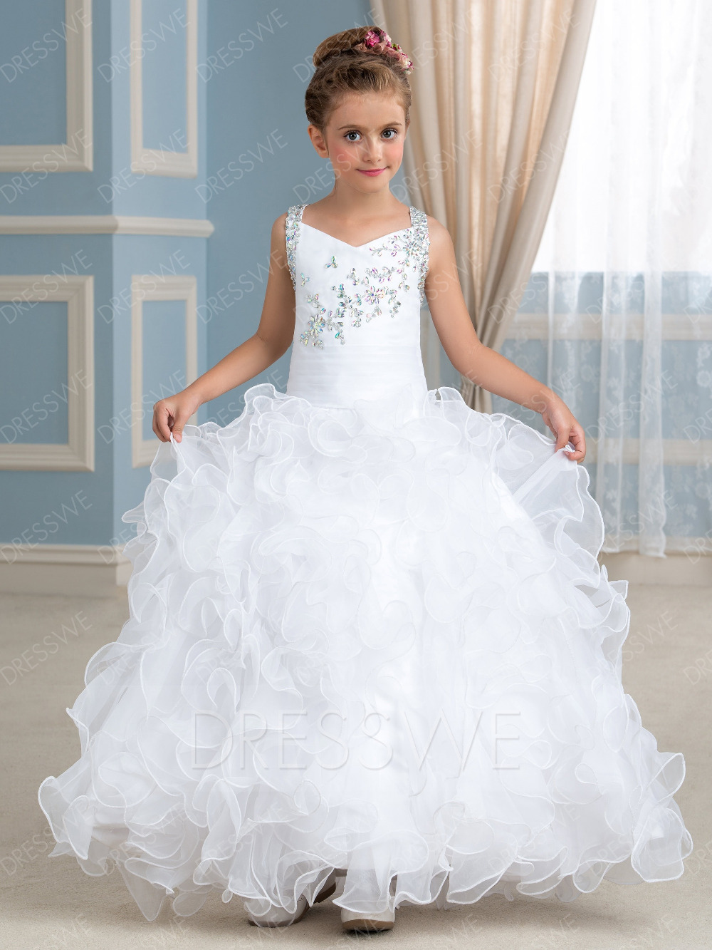 Flower Girl Dress Birthday Ball Gown Wedding Party Holiday