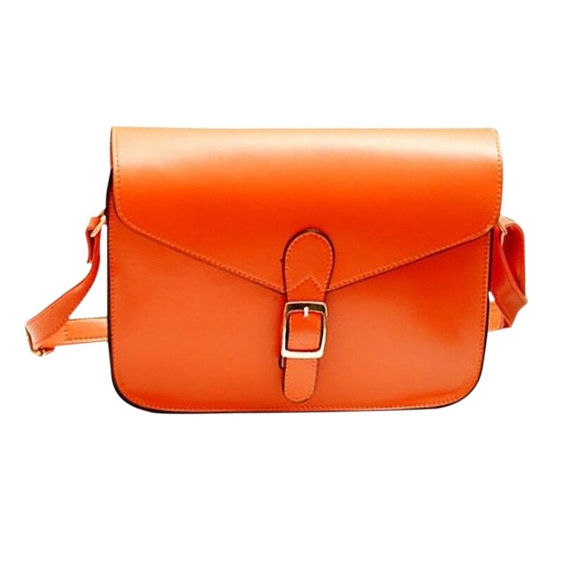 Sac à main pour femme besace style preppy vintage enveloppe sac bandoulière haute qualité porte-documents orange