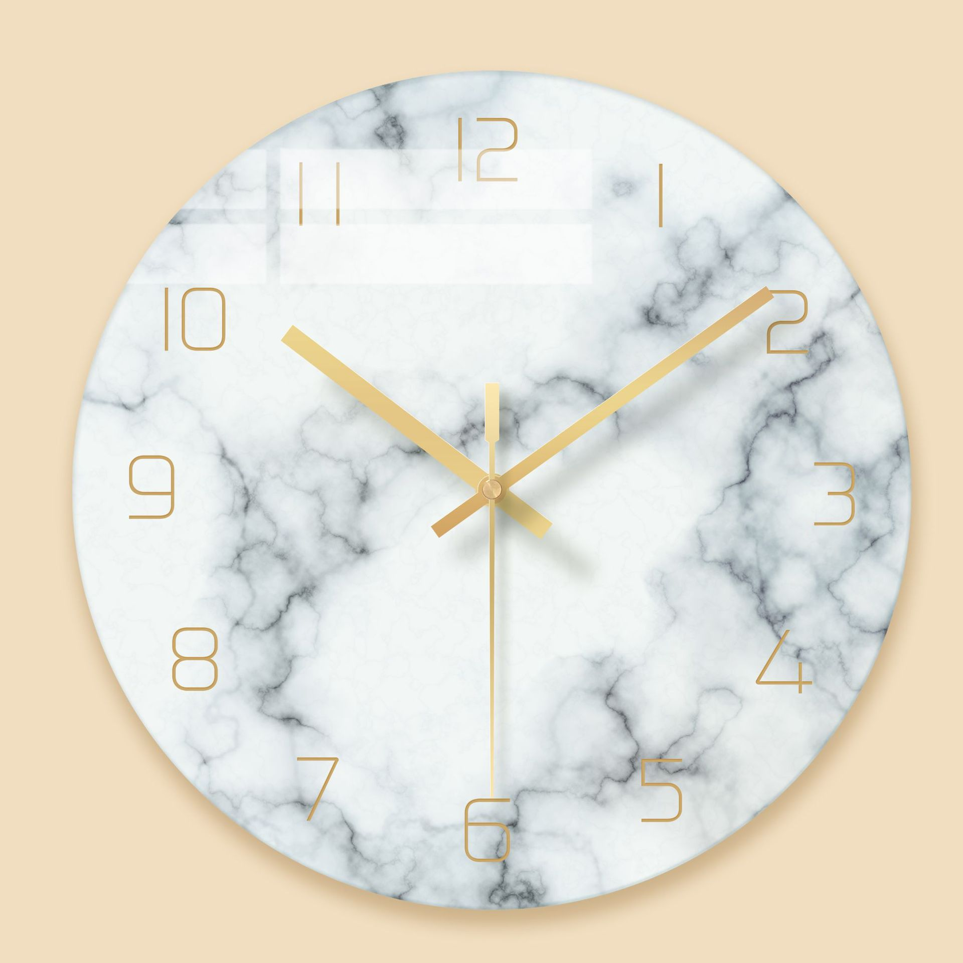 Creative Nordic Abstract Wall Clock Marble Texture Glass Clock Watch Home Office School Decoration Fun Gifts Dropshipping