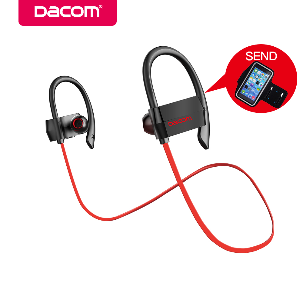 DACOM G18 Bluetooth Headphones Wireless Stereo Headset Sport Earphone with MIC Hands-free Earbuds for Android IOS Mobile Phone 100% original bluetooth headset wireless headphones with mic for blackview bv6000 earbuds