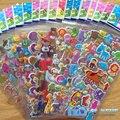 Hot 20 unids/lote 3D Pegatinas para bicicleta de los niños mochilas Patines DIY 3D Pegatinas de Dibujos Animados juguetes para niñas Navidad mejor regalos