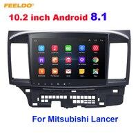FEELDO 10.2 inch Android 8.1 10.2Quad Core Car Media Player With GPS Navi Radio For Mitsubishi Lancer EX(2007 present #971