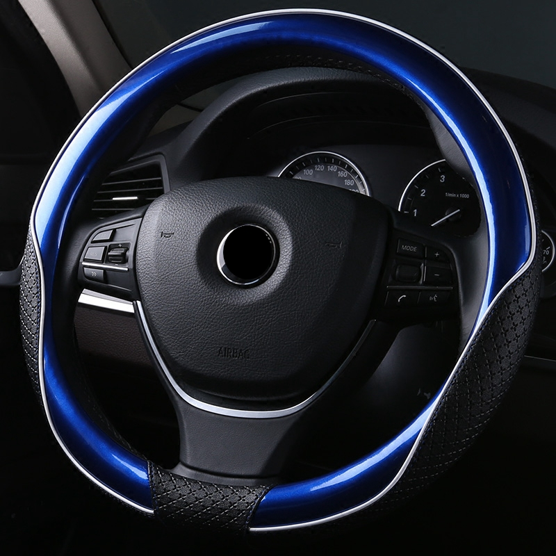 New Leather Steering Wheel Cover Protector Universal 35/36/37/38/39/40cm For BMW e60 Ford Focus 2 VW golf 6 mazda 2 scirocco