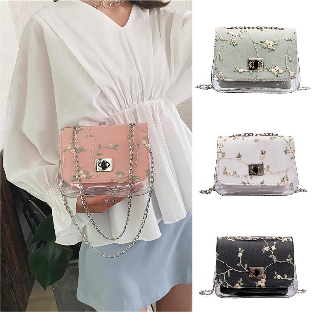 Womens Bags Fashion Transparent Wild Messenger One-Shoulder Small Square bags women taschen women bolsa masculina