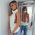Sweater Women 2016 Autumn Winter Sexy Halter Backless Sleeveless Turtleneck Sweater Women Pullovers Jumper Pull Femme Outwear