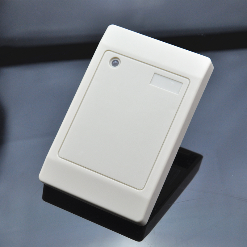 ABS material white access control wiegand output 125khz RFID ID card reader for door security waterproof card reader 125khz rfid card reader door access control system for home security for home security f1705h
