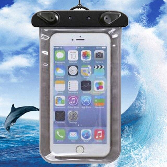 Fashion Universal Clear Waterproof Pouch Case For Samsung Galaxy Note 4 N9108 N9100 Note 5 SM-N920F N920 100% Waterproof Bag