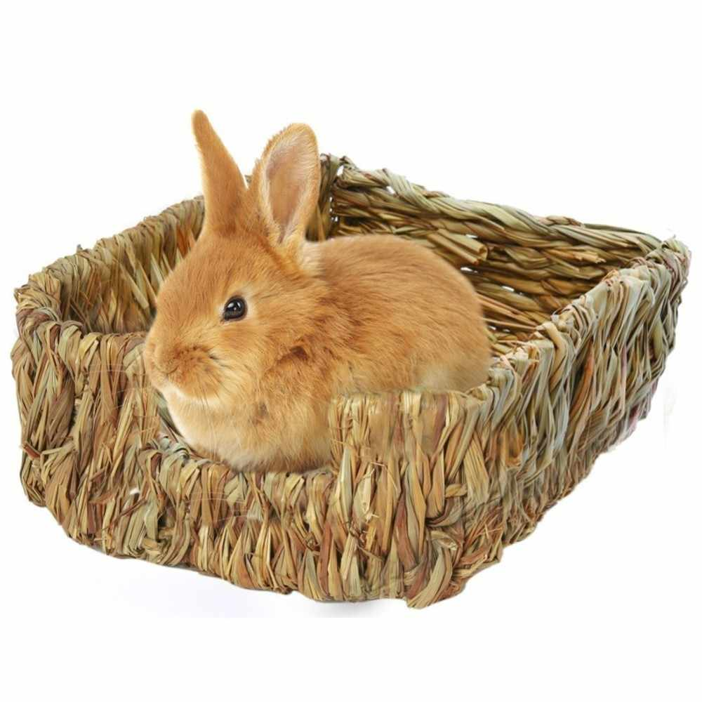 Handcraft Woven Grass Hamster Nest Small Pet Rabbit Hamster Cage House Chew Toys Guinea Pig Rat Hedgehogs Chinchilla Bed