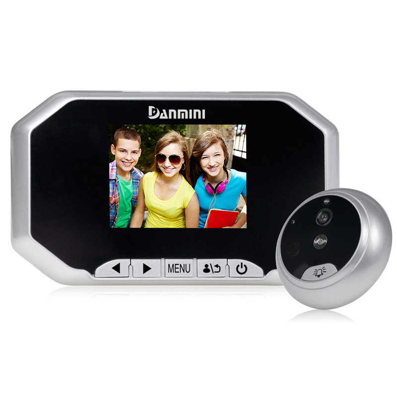 DANMINI 3.0 pouce Numérique Sonnette LCD Écran Couleur 160 Degrés Judas Spectateur Porte Extérieure Caméra Porte Eye Sonnette Enregistrement Vidéo