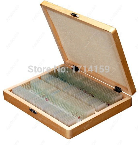 все цены на AmScope Supplies 100 Homeschool Biology Prepared Microscope Slides - Set E