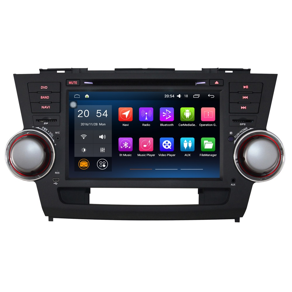 8 8 Core Android 8.0 Autoradio Pour Toyota Highlander 08-11 Voiture Stéréo Sans DVD De Voiture Audio BRAS Cortex-A53 RAM 4 gb ROM 32 gb