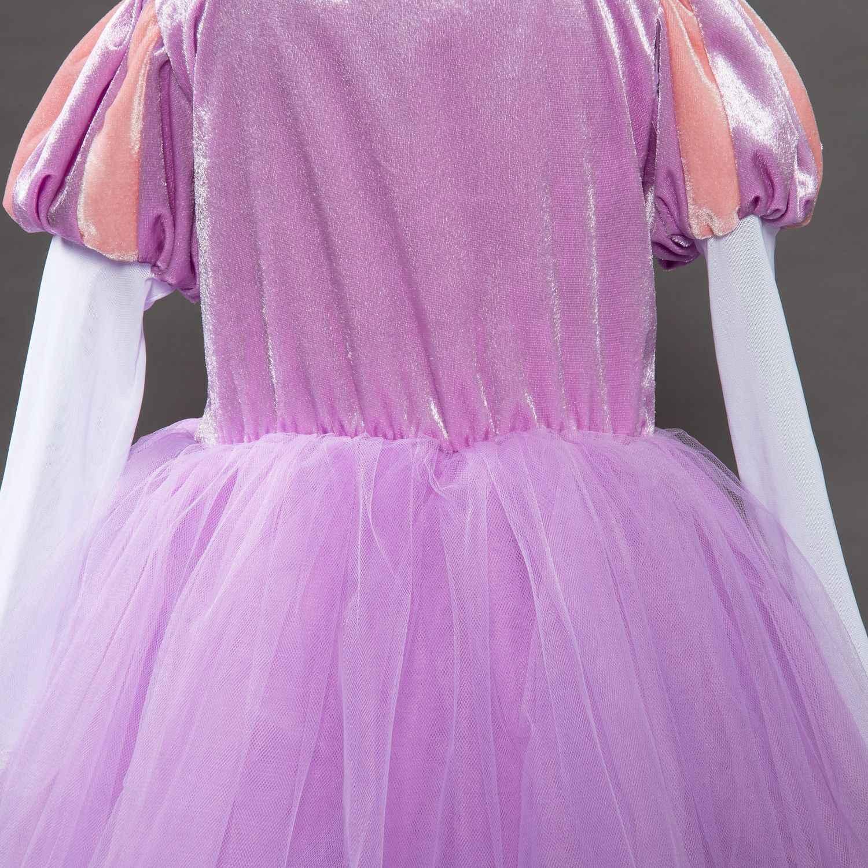 8d9a0f836 ... Niños Niñas Princesa Sofía Rapunzel vestidos de novia vestido largo  vestido de fiesta ropa de los