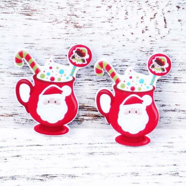 David accessoires bricolage gâteau de noël | Résine planée, Cabochon acrylique, nœud de cheveux, fabrication artisanale de vacances, 25Yc4851