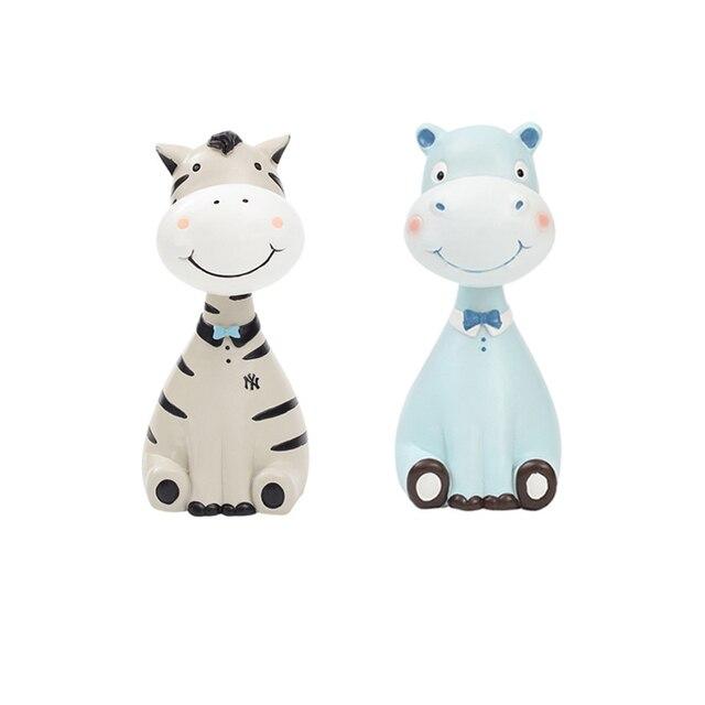 Household Decor Glasses Frame Figurines Resin Cute Zebra Giraffe ...