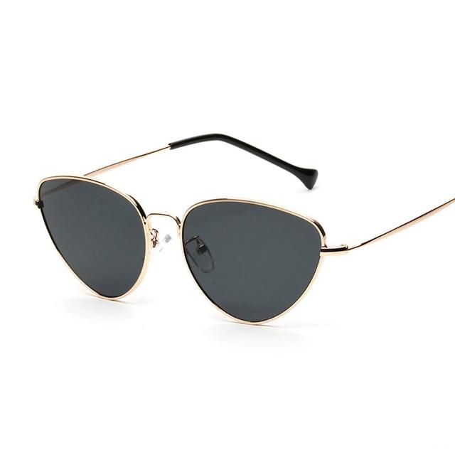 Retro Cat Eye Sunglasses Women Yellow Red Lens Sun glasses Fashion Light Weight Sunglass for women Vintage Metal Eyewear 2