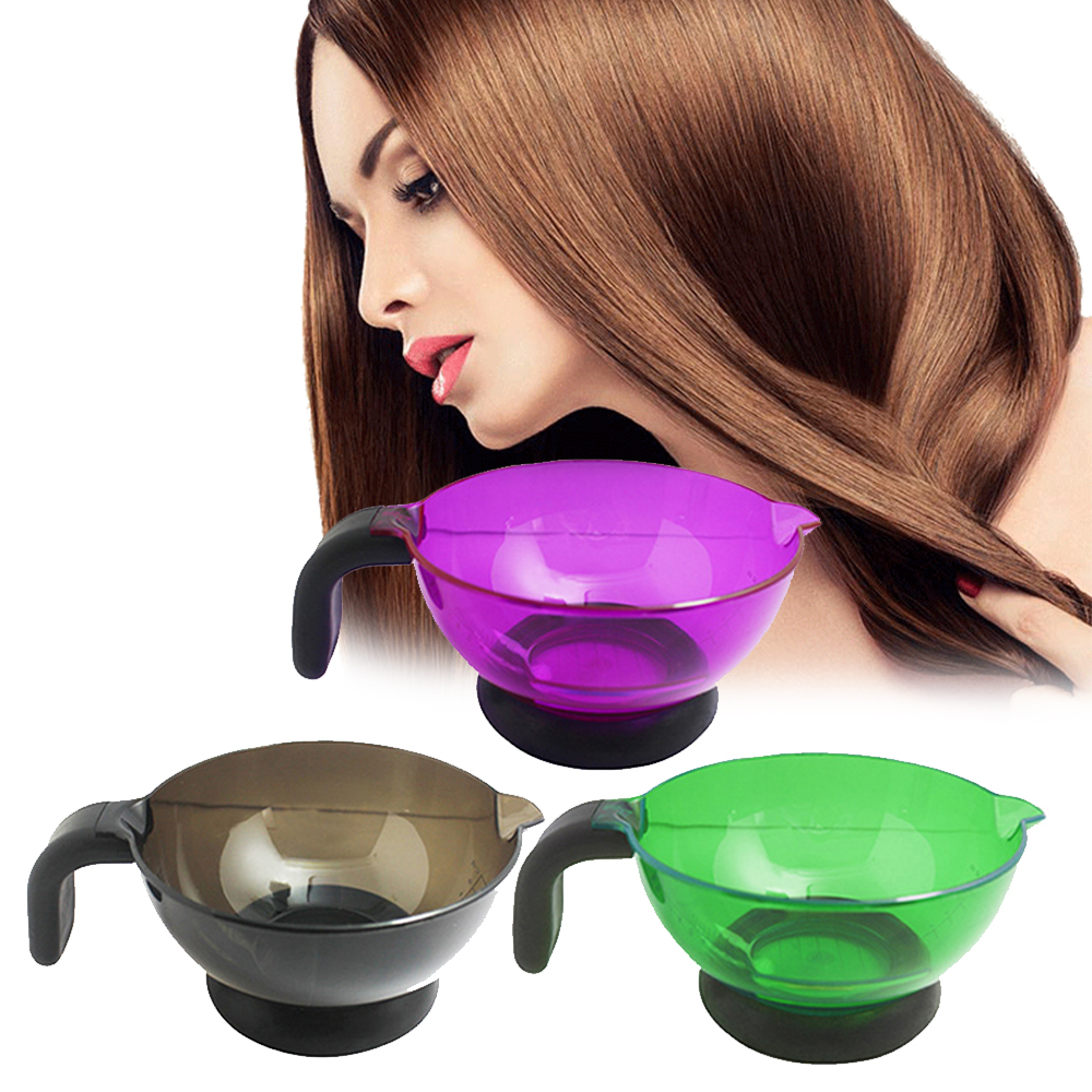 1 Pc Professiona Salon Plastic Hair Dye Tint Coloring Brush Comb Mixing Suction Cup Palette Bowl Hair Styling Tool Random Color