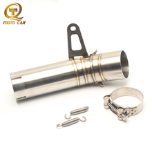 hot deal buy modifiy motorcycle exhaust systems 61mm stainless steel muffer for bmw s1000rr exhaust adapter middle pipe accessories 2010-2016