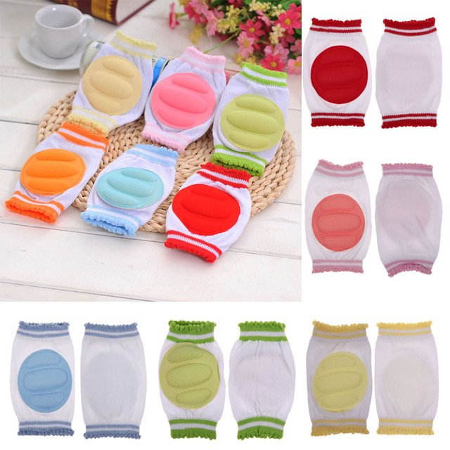 1 Pair Baby Kids Knee Pads Protector Infant Toddler Safety Crawling Elbow Cushion Cotton+Spandex Baby Leg Warmers Baby Kneecap