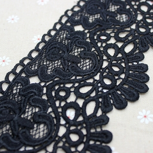 3 метра 8,5 см белая черная кружевная планка лента для аппликации для костюма отделка домашний текстиль Сделай Сам кружевная ткань для шитья молочное волокно
