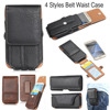 4 Style TOP Quality Belt Waist Sports Bag Horizontal Vertical Smart Phone Case With Card Pocket