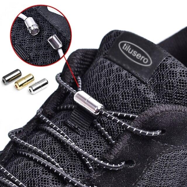 1 Co Giãn Không Buộc Dây Giày Khóa Vòng Dây Giày Trẻ Em Người Lớn Nhanh Dây Giày Tròn 100 cm Dây Giày Dây f053