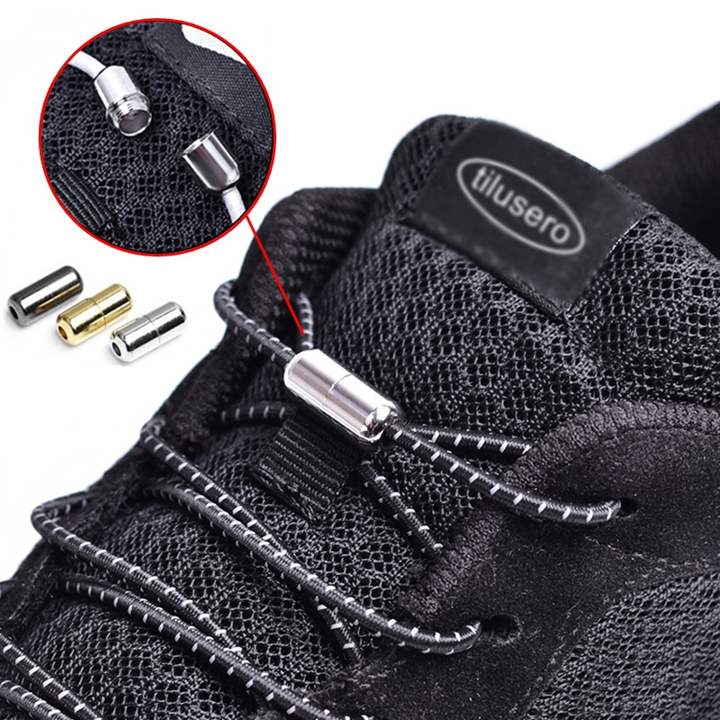1pair Elastic No Tie Shoelaces Locking Round Shoe Laces Kids Adult Quick Shoelaces 100cm Round Shoe Laces Strings F053