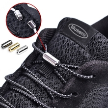 1pair Elastic No Tie Shoelaces Locking Round Shoe Laces Kids Adult Quick 100cm Strings F053