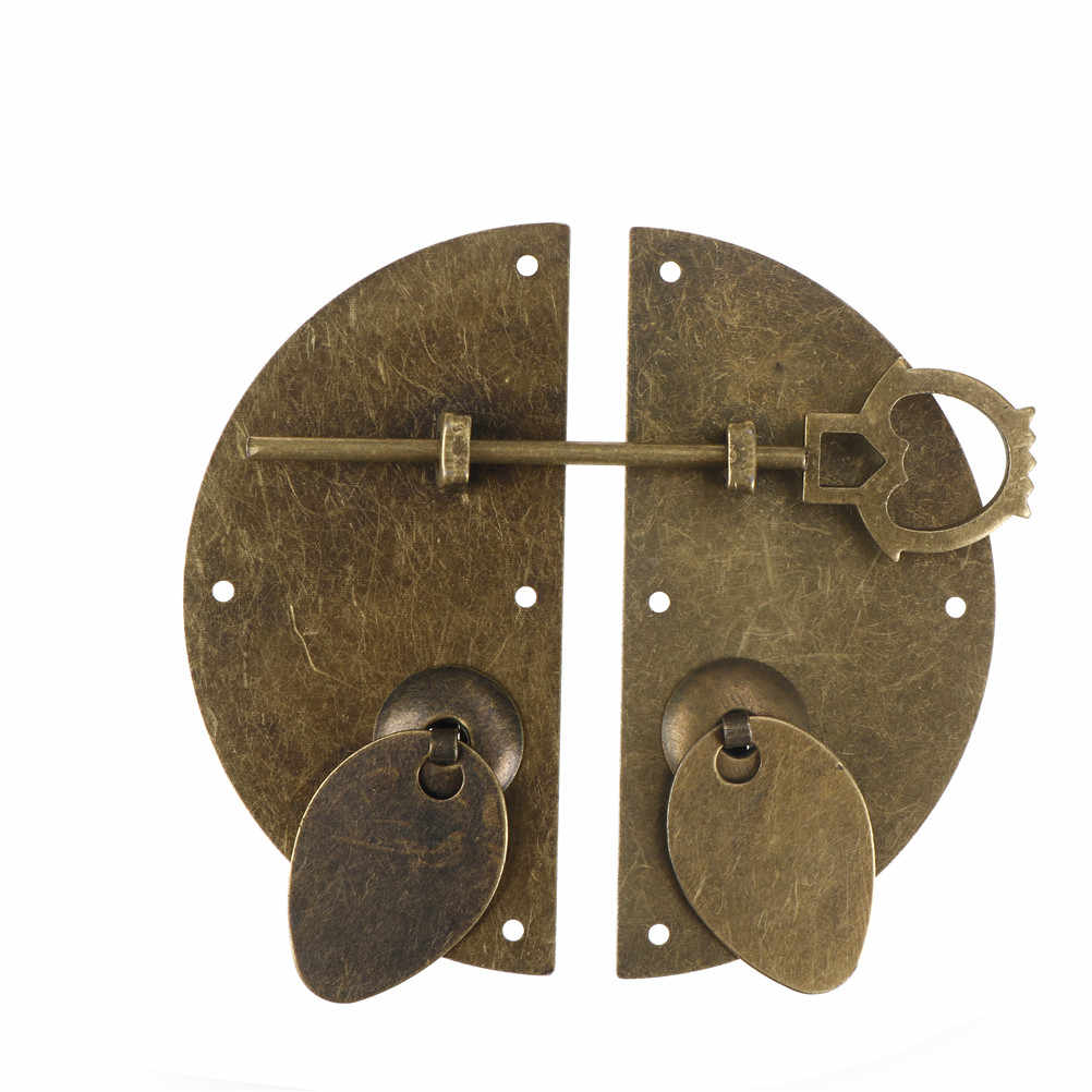 """Chinese Style Furniture Hardware Iron Door Knocking Knocker Pull Vintage Lock Catch For Cabinet Cupboard Drawer 100mm/3.94"""""""