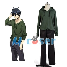 Orenchi No Furo Jijo Tatsumi Men Green Casual School Hoodies Sweater Custom Made Cosplay Costume
