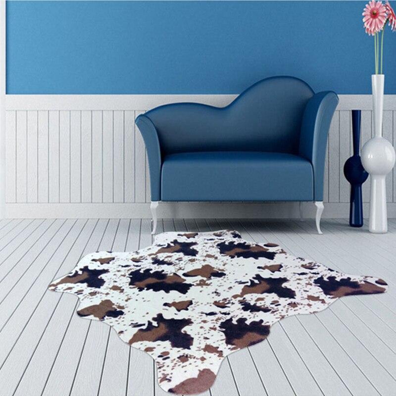 Imitation peau d'animal tapis 140*160cm antidérapant vache zèbre rayé petits tapis et tapis pour la maison salon chambre tapis de sol - 2